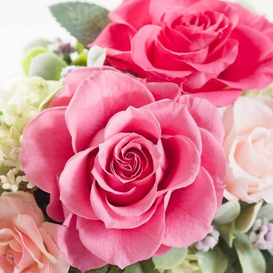 ピンクのバラのプリザーブドフラワー小枝のバンドルアレンジ BUNDLE(PINK)