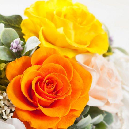 黄色のバラのプリザーブドフラワー小枝のバンドルアレンジBUNDLE(YELLOW)