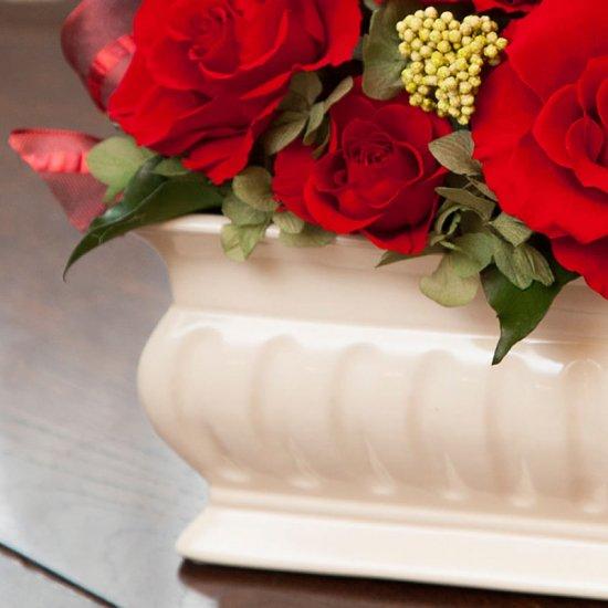 赤いバラのプリザーブドフラワーアレンジメント メアリー(レッド) ※ギフトタイプ3