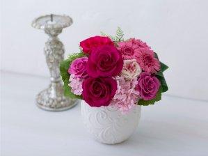 パリスタイル バラとガーベラのアレンジメント