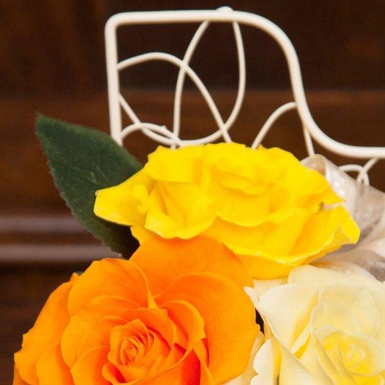 黄色のバラのプリザーブドフラワーのピアノアレンジ  ピアノ(イエロー)