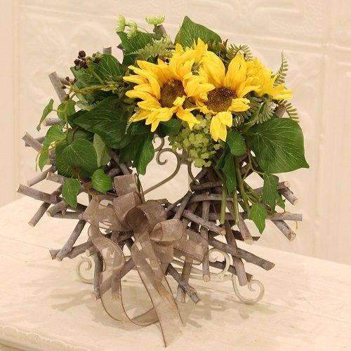 高級造花の夏用フラワーリース