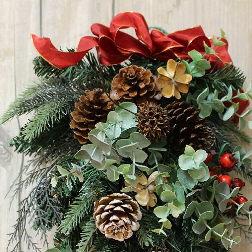 木の実の大きく豪華なクリスマススワッグ(大)