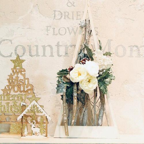 壁飾りにもなる ホワイトローズツリー