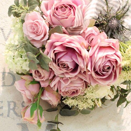 豪華なピンクのバラのスワッグ アーティフィシャルフラワー