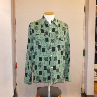 Vintage Style Box Shirt Long Sleeves Green