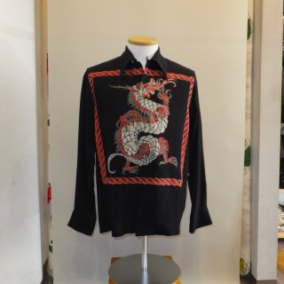 <img class='new_mark_img1' src='//img.shop-pro.jp/img/new/icons41.gif' style='border:none;display:inline;margin:0px;padding:0px;width:auto;' />Vintage Style 50'S Dragon panel Box Shirt Long Sleeves 30%off