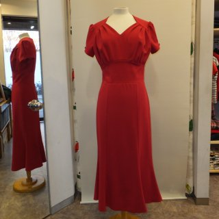 40's Victory Wiggle Evening Dress