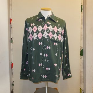 <img class='new_mark_img1' src='//img.shop-pro.jp/img/new/icons41.gif' style='border:none;display:inline;margin:0px;padding:0px;width:auto;' />【50%off】Green Argyle Shirts