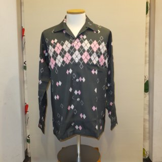 <img class='new_mark_img1' src='//img.shop-pro.jp/img/new/icons41.gif' style='border:none;display:inline;margin:0px;padding:0px;width:auto;' />Grey Argyle Shirts 【50%off】