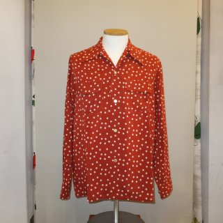 Polka Dot Vintage Style Box Shirt Long Sleeves