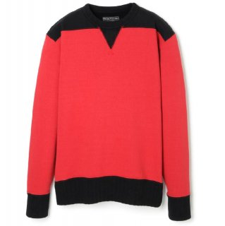 <img class='new_mark_img1' src='//img.shop-pro.jp/img/new/icons6.gif' style='border:none;display:inline;margin:0px;padding:0px;width:auto;' />DOUBLE V TWO TONE SWEATSHIRT RED