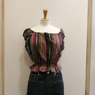 Brown Peasant Top