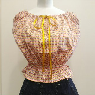 Gold Peasant Top