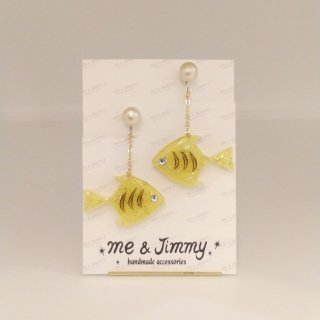 <img class='new_mark_img1' src='//img.shop-pro.jp/img/new/icons6.gif' style='border:none;display:inline;margin:0px;padding:0px;width:auto;' />Lemon Angelfish Cotton Pearl Earring