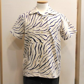 Vintage Style 50'S Zebra Box Shirt Short Sleeves