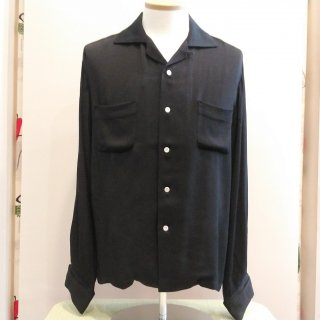<img class='new_mark_img1' src='//img.shop-pro.jp/img/new/icons6.gif' style='border:none;display:inline;margin:0px;padding:0px;width:auto;' />RAYON FRENCH CUFF SHIRT BLACK