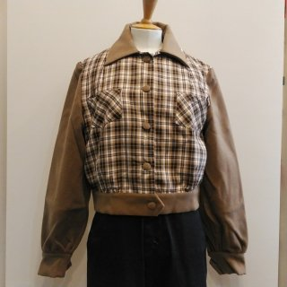 <img class='new_mark_img1' src='//img.shop-pro.jp/img/new/icons41.gif' style='border:none;display:inline;margin:0px;padding:0px;width:auto;' />【SALE】Brown Plaid Jacket