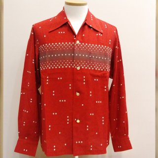 <img class='new_mark_img1' src='//img.shop-pro.jp/img/new/icons41.gif' style='border:none;display:inline;margin:0px;padding:0px;width:auto;' />Vintage Atomic Print Style Box Shirt Long Sleeves 30%off