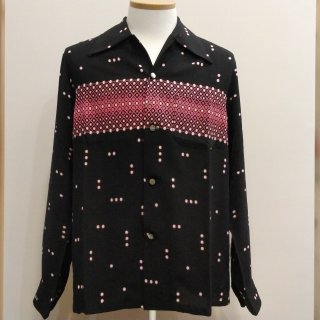 Vintage Atomic Print Style Box Shirt Long Sleeves