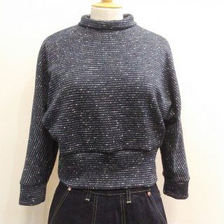 Navy Knit Beatnik