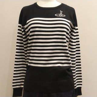 <img class='new_mark_img1' src='//img.shop-pro.jp/img/new/icons60.gif' style='border:none;display:inline;margin:0px;padding:0px;width:auto;' />Mischief Stripe Long Sleeve Knit Sweater
