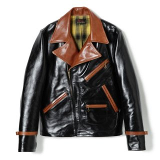 <img class='new_mark_img1' src='//img.shop-pro.jp/img/new/icons6.gif' style='border:none;display:inline;margin:0px;padding:0px;width:auto;' />Bond Leather Sport Jacket Black/Brown