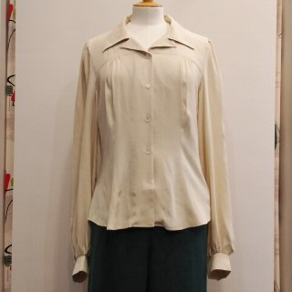 40s Yoke Long Sleeve Blouse