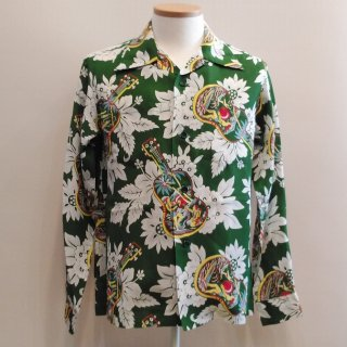 Ukulele Melody Open Hawaiian Shirts L/S
