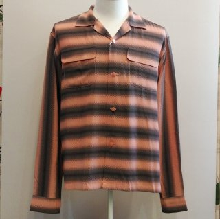Gradation Stripes Open Shirts L/S