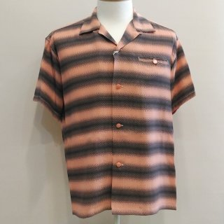 Gradation Stripe Short Sleeve Shirt