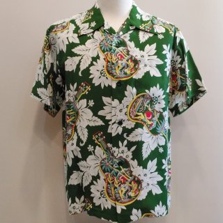 <img class='new_mark_img1' src='//img.shop-pro.jp/img/new/icons41.gif' style='border:none;display:inline;margin:0px;padding:0px;width:auto;' />【30%off】Hawaiian Shirt [Ukulele Melody] Short Sleeve