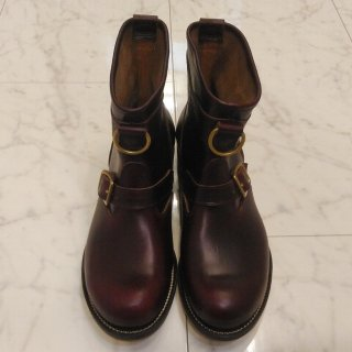 1940'S Vintage Style Roper Boots Burgundy