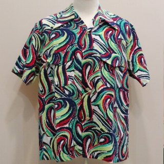<img class='new_mark_img1' src='//img.shop-pro.jp/img/new/icons20.gif' style='border:none;display:inline;margin:0px;padding:0px;width:auto;' />Vintage Atomic Style Box Shirt Cotton Shirt S/S