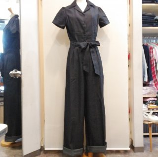 <img class='new_mark_img1' src='//img.shop-pro.jp/img/new/icons6.gif' style='border:none;display:inline;margin:0px;padding:0px;width:auto;' />Long Rosie Romper Denim Jumpsuit