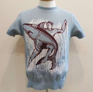 Vintage 1950's style Summer Knit Shark