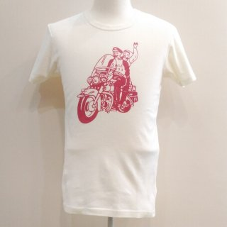 <img class='new_mark_img1' src='//img.shop-pro.jp/img/new/icons6.gif' style='border:none;display:inline;margin:0px;padding:0px;width:auto;' />Vintage 1950's style T-Shirt Mortorcycle