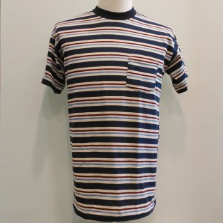 <img class='new_mark_img1' src='//img.shop-pro.jp/img/new/icons6.gif' style='border:none;display:inline;margin:0px;padding:0px;width:auto;' />Pocket T-shirt Blue Stripes