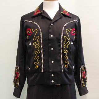 <img class='new_mark_img1' src='//img.shop-pro.jp/img/new/icons6.gif' style='border:none;display:inline;margin:0px;padding:0px;width:auto;' />Horseshoe Western Style Satin Jacket