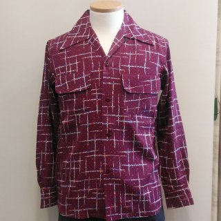 <img class='new_mark_img1' src='//img.shop-pro.jp/img/new/icons6.gif' style='border:none;display:inline;margin:0px;padding:0px;width:auto;' />1940's Vintage Style BOX shirt Wine