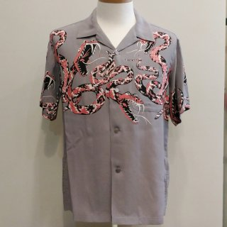 "<img class='new_mark_img1' src='//img.shop-pro.jp/img/new/icons6.gif' style='border:none;display:inline;margin:0px;padding:0px;width:auto;' />High Density Rayon Open Shirt ""RATTLE SNAKE"""