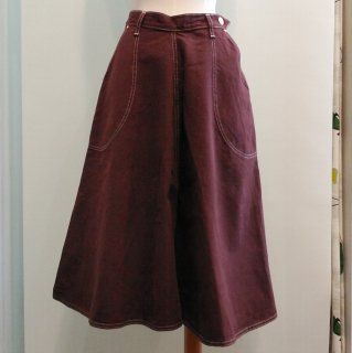 Brown Denim Jeans Skirt