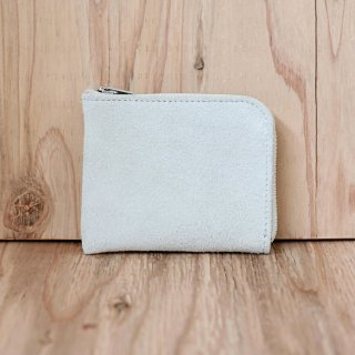 hazy / cow suede coin wallet (light gray)