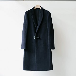 CITY / angola beaver chester coat - fixed buckle (dark navy)
