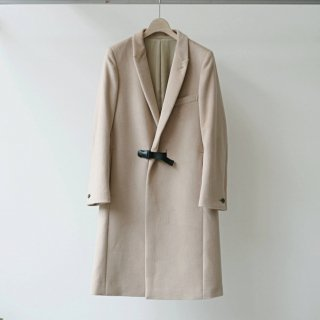 CITY / angola beaver chester coat - fixed buckle (beige)