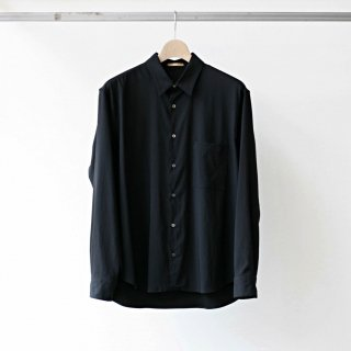 LAMOND /  back satin relax shirt (black)