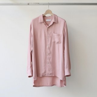 THEE / open collar shirts (pink)