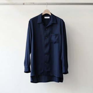THEE / open collar shirts (navy)