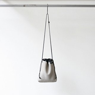 20/80 - cow suede drawstring shoulder bag (LGY)