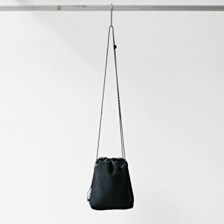 20/80 - cow suede drawstring shoulder bag (BK)